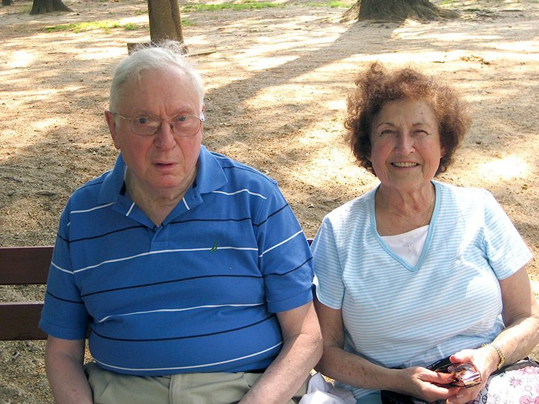 The late Leo Shear and his wife Ruth.