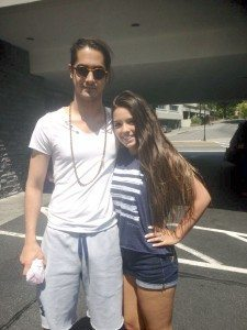 Gabriela Carrasco meets teen heartthrob  Avan Jogia.