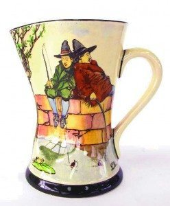 Royal Doulton pitcher marked The Fishers