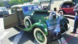 The featured car was a 1934 limited-edition Rolls Royce Park Ward Saloon owned by Mark Rudes.