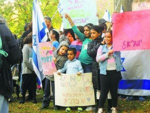 Even young children showed their support at the family-friendly Solidarity Rally for Israel.