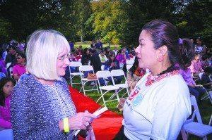 Judi Bosworth and LICAA Volunteer Coordinator Annie Teng