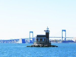 Stepping Stones Lighthouse is visible from the Throgs Neck Bridge.