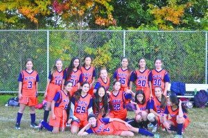 The GN North Middle School eighth grade girls soccer team is undefeated.