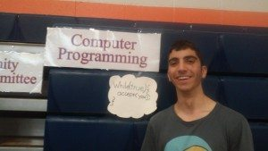 Aram Baghdassarian at the Computer Club booth
