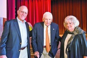 From left: Board of Education Vice President Lawrence Gross, former Superintendent of Schools Dr. William Shine and Board President Barbara Berkowitz.