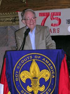 Howard Bauman at 2009 Troop 10 Honoring