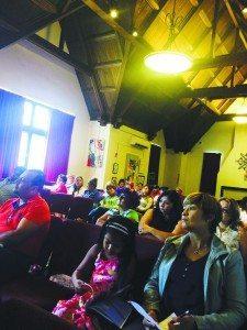 The audience listened to keynote speaker Dawn Diaz.