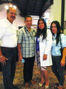 From left: Daniel Suarez, president of the National Association of Hispanic Nurses (NAHN), Dr. Javier Morales, RN Paz Menjivar and Dr. Merces Assumpcao-Morales