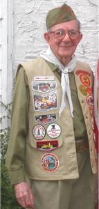 Bauman in his Boy Scout uniform