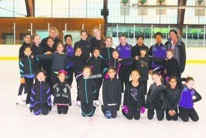Synchro Team 1 2015: Icettes and Ice Pops Synchro Teams with (from left) Coaches Audra Smith and Carole Liotti