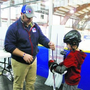 A free Ranger hockey stick was given to each participant.