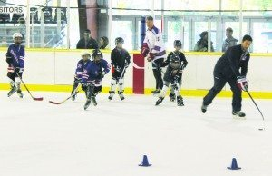 Learning was fun with on-ice drills.