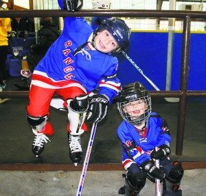 Hockey participants had fun on and off the ice.