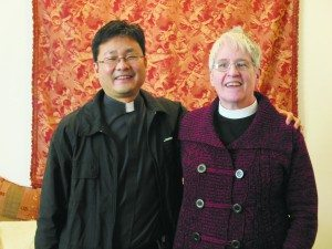 Fr. Joseph with Deacon Connie Lorenz
