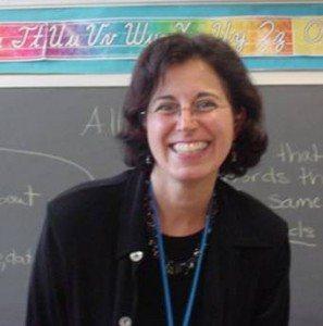 Sharon Fougner, principal of E.M. Baker Elementary School, shares details of the deer sighting.