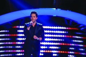 The Voice contestant's singing debut was at Great Neck North.(Photo by Paul Drinkwater/NBC)