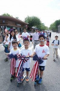 At the 2015 Great Neck Memorial Day Parade