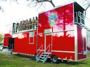 Alert officers and ex-officers took a special course that certified them to train firefighters in the burn trailer.
