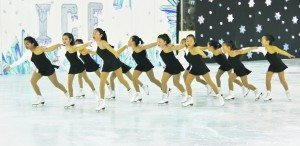 Synchronized teams are popular for more advanced figure skaters. (Photo by Michele Siegel)