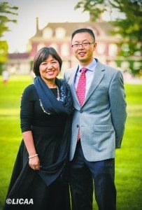 Lin Pan and husband and business partner, Derek Zheng, celebrated the Mid-Autumn Festival at Old Westbury Gardens.