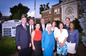 North Hempstead Town Supervisor Judi Bosworth and the Town Board outside of Town Hall.