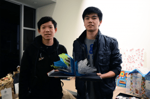 """Pop-Up Book"" by Zhiming (Jay) Chen and Steven Chen of Great Neck South High School was awarded for Creativity in the high school category."