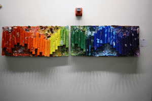 """Rainbow Color Spectrum"" by E.M. Baker School was given Honorable Mention in the group category."