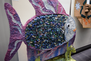 """Recycled Rainbow Fish"" by Parkville School was awarded for its environmental message in the group category."