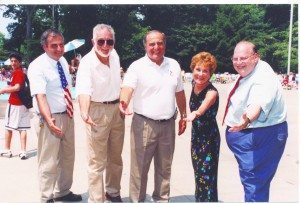 From left: Peter Renick as deputy superintendent, Commissioners Ivar Segalowitz, Robert A. Lincoln, Jr., Ruth Tamarin and past Superintendent Neil Marrin