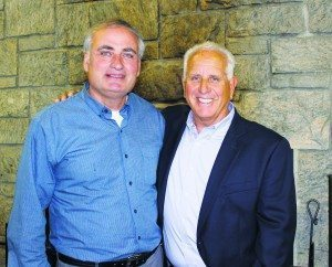 Superintendent Peter Renick and past Superintendent Richard Arenella, who retired from the Great Neck Park District in 2001 after almost 40 years of service (Photo by Michele Siegel)