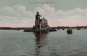 Here's another postcard view of the lighthouse, probably from about 1907. (From the collection of Alice Kasten)