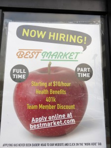 BestMarketG Hiring Sign