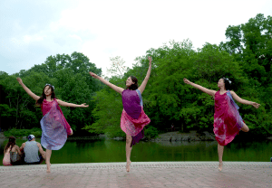From left: Rachel Wong, Tess Ramos-Dries and Sarah Wong (Photo by Melanie Futurion)