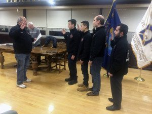 Ex-Chief Robert A. Lincoln, Jr., swore in the new EMS Officers.