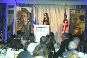 FIDF Long Island Annual Appreciation Evening Master of Ceremonies Michelle Ahdoot addressed the crowd of nearly 500 supporters from the community. (Photos by Aron Michael)