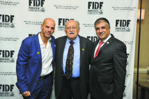 From left: FIDF National Board Member and Long Island Chairman Ronny Ben Josef; FIDF Long Island Executive Committee Member Boris Chartan; and FIDF National Director and CEO Maj. Gen. (Res.) Meir Klifi-Amir