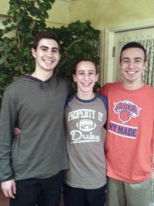 Ethan Bradford, Harrison Gillman and Jagger Gillman