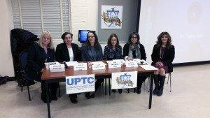 Pam Stark with Social Workers Malka Rahmanan, Oana Scholl, Joan Greenberg, Shahnaz Goldman and Rebecca Harounian Cohenmehr
