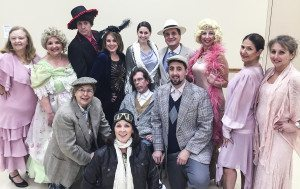 """The Drowsy Chaperone"" will be performed at Sid Jacobson JCC January 30 and 31 and February 6 and 7. Performers include Ellen Vigneau, Roslyn Heights, top left, Lisbeth Wolgel, Roslyn Heights, Steve Brustien, Manhasset, Debbi Buslik, East Hills, Michele Mazzocco, Whitestone, Rich Buckley , Williston Park, Leslie Aiuto, Great Neck, Cindy Kozak, Roslyn and Cheryl Korsen, Roslyn Heights. Bottom row from left Roz Kroplick, East Hills, Kym Wilner, Port Washington, Scott Evans, Great Neck and Leore Riven, Flushing."