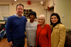 From left: North Hempstead Housing Authority Executive Director Sean Rainey, Dolores Stover, Supervisor Judi Bosworth and Council Member Anna Kaplan