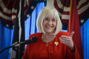 Supervisor Judi Bosworth at last year's State of the Town address.