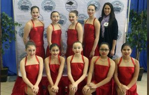 Icettes team with Coach Carole Liotti (far right)