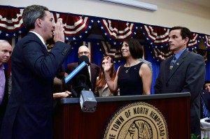 State Senator Jack Martins administered the oath of office to Council Member De Giorgio.