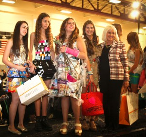Supervisor Judi Bosworth with participants at last year's Trashion Show.