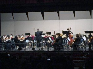 The orchestra was one of many groups that played for family and friends at the winter concert. (Photos by Amanda Madenberg)
