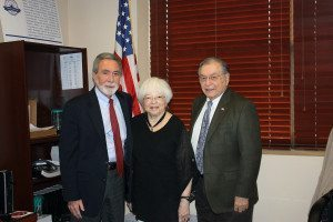From left: GNWPCD Commissioner Steve Reiter at his swearing-in ceremony with Commissioner Deena Lesser and Chairperson Jerry Landsberg