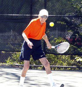 At 95, Bernie Kass regularly played tennis.