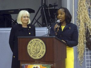 Town Supervisor Judi Bosworth and Councilwoman Viviana Russell