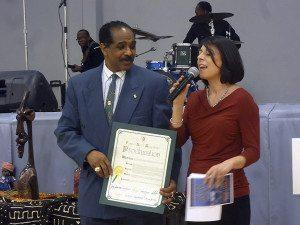 Ronald Rochester of Port Washington and Councilwoman Dina De Giorgio